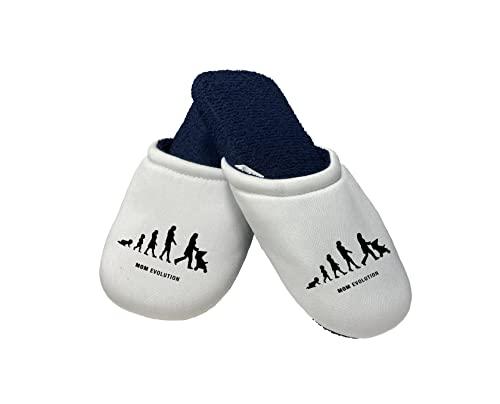 Pantofole Festa della Mamma - Pantofole Mamma - Mom Evolution - Evoluzione Mamma - Idea Regalo Mamma - Pantofole - Idea Regalo Festa della Mamma