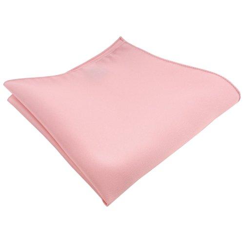 TigerTie Satin Einstecktuch in rosa Uni - Tuch Polyester Kavalierstuch Pochette Stecktuch