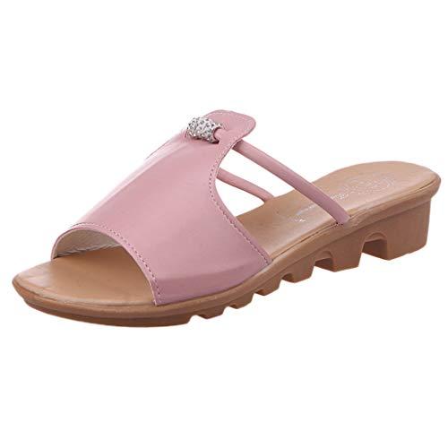 Eaylis Damen Offener Zeh Aus Perlen-Strass-Studenten Sandalen Sommer Strand Schuhe Hausschuhe Stilvoll