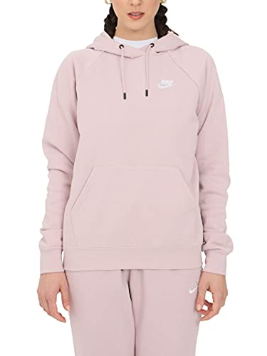 Nike Sudadera de mujer con capucha Essential Rosa Cód. BV4124-645 rosa pastel / blanco XL