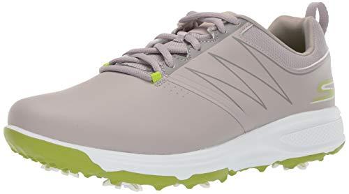 Skechers Men's Torque Waterproof Golf Shoe, Gray/Lime, 7.5 M US