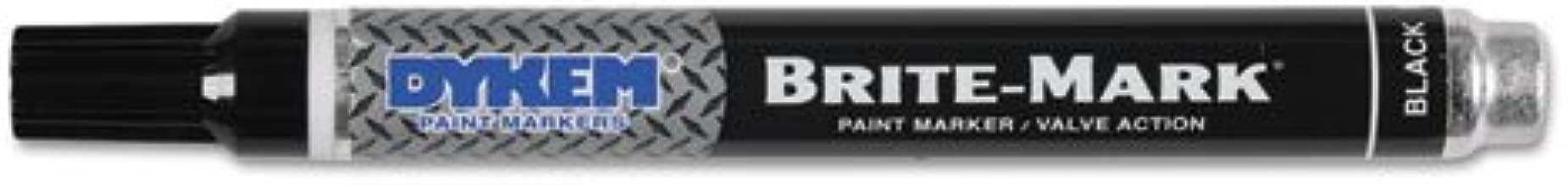 BRITE-MARK Layout Marking Pen, Medium Point, Black, Sold as 12 Each