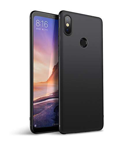 Olliwon Xiaomi Mi Mix 3 Hülle, Dünn Leichte Schutzhülle Schwarz Silikon TPU Bumper Hülle Cover für Xiaomi Mi Mix 3 6,39