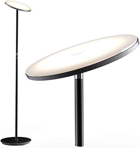 Floor Lamp, Nekteck Led Floor Lamps for Living Rooms, Bedrooms and Office, Torchiere Standing Pole Lamp with Modern Design and Touch Control, Tall room lamps with 30w/2000LM, 3000K Warm White