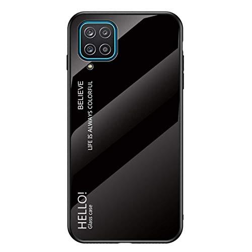 NACIEY Carcasa para Samsung Galaxy A12, ultrafina, cristal degradado de color para Galaxy A12, carcasa rígida de PC resistente compatible con Samsung Galaxy A12 (Samsung Galaxy A12, J)