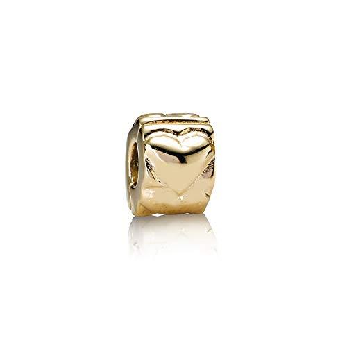 Pandora corazón oro Clip 750243