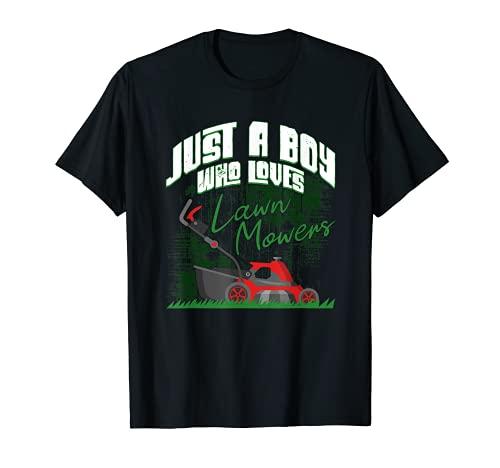 Just A Boy Who Loves Cortacéspedes Cortacésped Cortacésped Camiseta