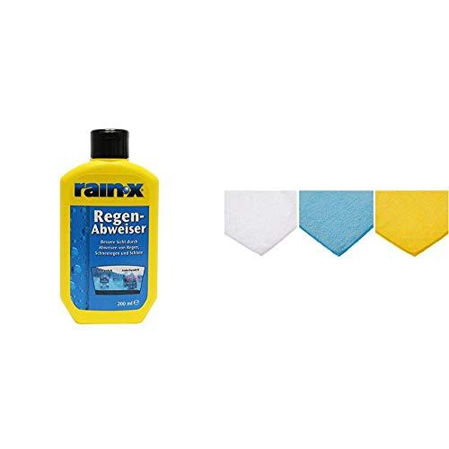Rain-X Regenabweiser, 200ml & Amazon Basics Mikrofaser-Reinigungstücher, 6 Stück