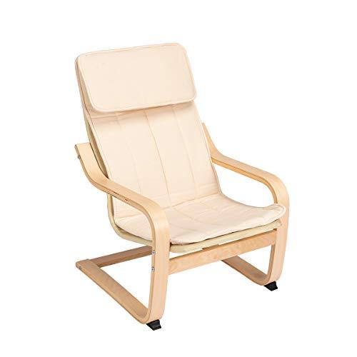 IKEA Poäng - Mecedora infantil (en madera de abedul, con funda lavable)