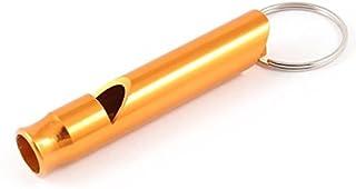 eDealMax metallo Puppy Dog Training Whistle con portachiavi Split Ring, Tone oro