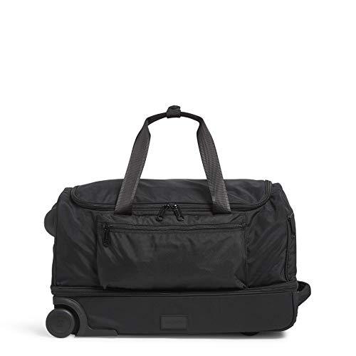 Vera Bradley Women's Recycled Lighten Up ReActive Foldable Duffel Rolling Suitcase, Black, One Size