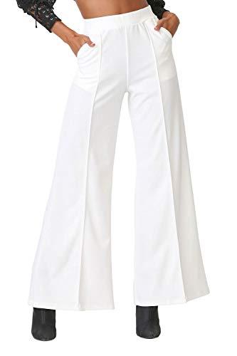 Women's J2 Love Flowing Palazzo Pants, Large, White