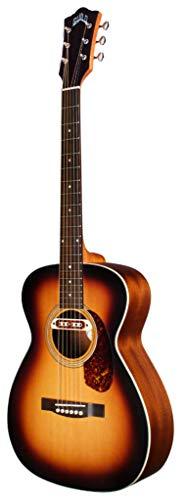Guild Guitars M-240E Troubadour Guitarra acústica Vintage Sunburst, Archback Solid Top Concert, Westerly Collection
