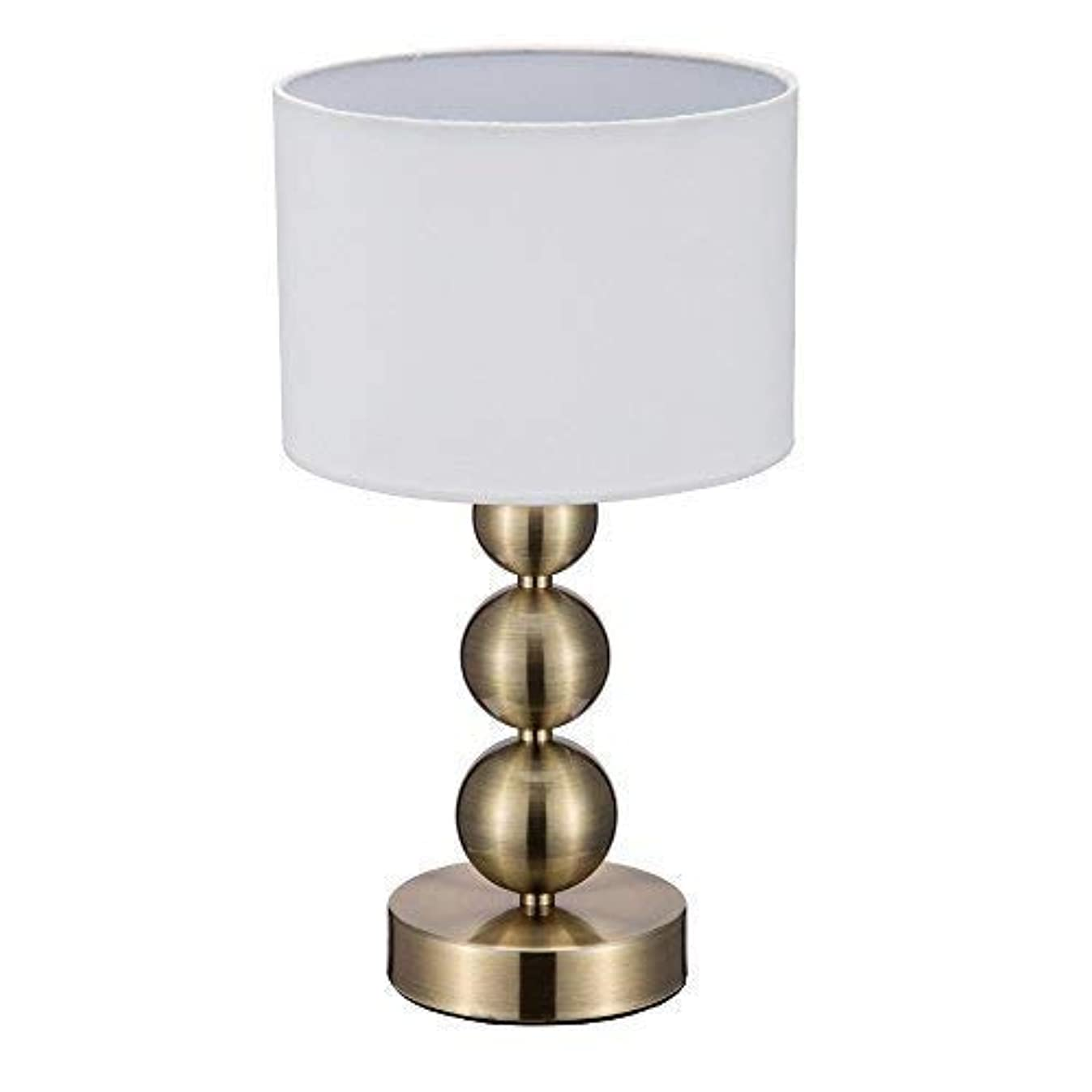 JINZO Portable Touch Table Lamps Small Accent Bedside Lamps for bedrooms with Touch Sensor Dimmable Antique Brass Finished