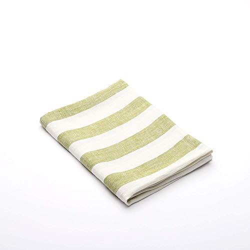 Linenme 65 x 135 cm Asciugamano da Bagno in Lino Philippe, Verde