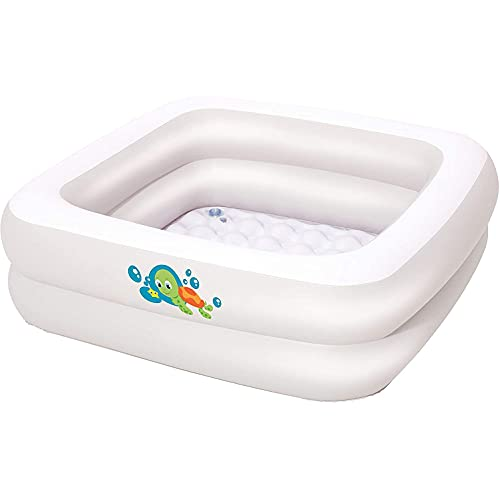 XBSXP La Bañera para Bebés Inflable Blanca Está Hecha De Materiales Ecológicos Adecuados para Bebés De 0 A 3 Años Los 86Cm × 86Cm × 25Cm