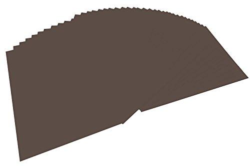 Bringmann - Papel A4 coloreado, 100 hojas, Marrón (Dark Brown)