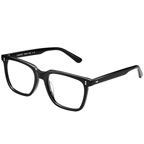 Carfia UV400 Schutz Sonnenbrille Damen Polarisierte Fahrenbrille Blaulichtfilter Brille, Acetatrahmen (Rahmen- Schwarz; Blaulichtfilter)