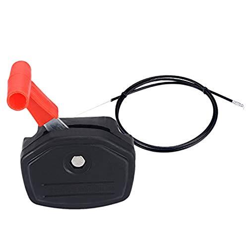 NEYOANN Interruptor universal palanca control mango y 56 'acelerador cable kit para cortacésped, cortacésped, herramientas de jardín