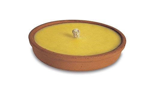 Bougie citron.DM18 terre cuite