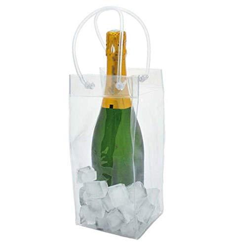 ATYBO EIS Weinkühler PVC Bierkühler Wein Bierbeutel Picknick Getränkekühler Kühler Getränkeflasche Eisgelbeutel