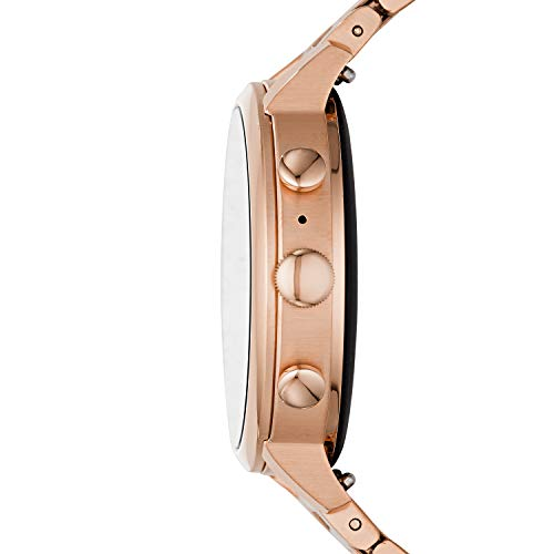 Fossil Women's Gen 4 Venture HR Heart Rate Watch with Stainless Steel Touchscreen Smartwatch Strap, Color: Rose Gold, 17 (Model: FTW6018)