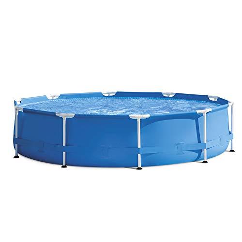 ZZQH Steel Frame Pool, Fast Set Pool Stabiler und leicht aufbaubarer, mit Filterpumpe Outdoor Badespaß für die ganze Familie im eigenen Garten, 305 cm * 76 cm