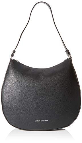ARMANI EXCHANGE Hobo Bag - Borse a spalla Donna, Nero (Black), 10x10x10 cm (W x H L)