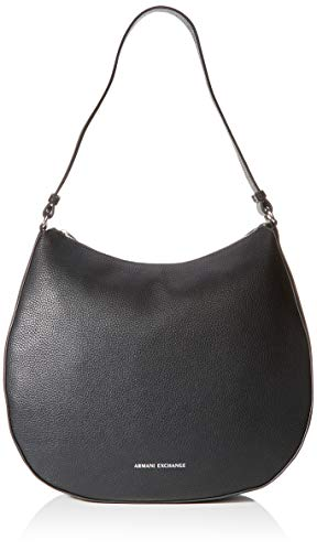 ARMANI EXCHANGE Hobo Bag - Borse a spalla Donna, Nero (Black), 10x10x10 cm (W x H L)