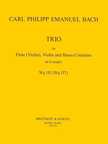 Triosonate in G-dur Wq 152 für Flöte (Violine), Violine, Bc - Partitur und Stimmen (MR 2145)