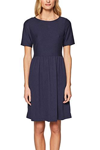 edc by ESPRIT Damen 039CC1E018 Kleid, Blau (Navy 400), Small (Herstellergröße: S)