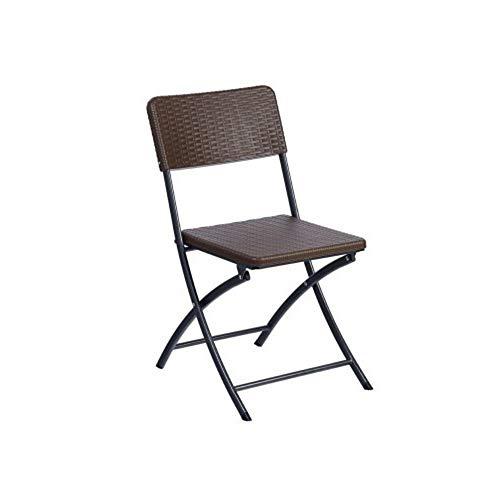 Resol Silla Plegable, Ratán, marrón, 44,5 x 54 x 80,50 cm