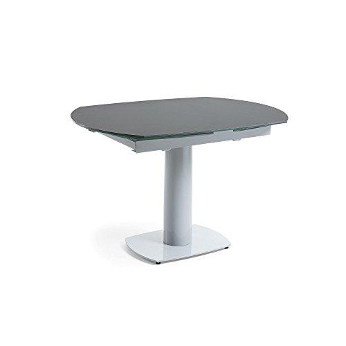 Kave Home - Uitschuifbare tafel Rachel donkergrijs 120 (180) x 90 cm