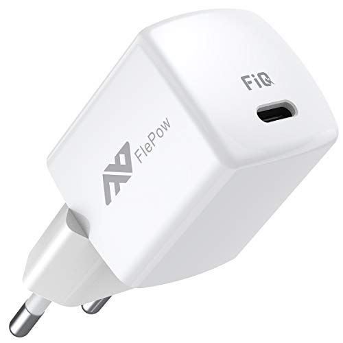 USB C Schnellladegerät, FlePow 20W Wandladegerät mit PD3.0 und QC3.0, Kompaktes PD Ladegerät für iPhone 12/12Mini/12Pro/12Pro Max/11Serie/XSerie/iPad Pro, Pixel, Samsung (Ladekabel nicht inklusive)