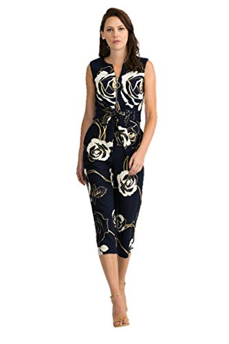 Joseph Ribkoff Midnight Blue & Vanilla Jumpsuit Style 201103 - Spring 2020 Collection (18)