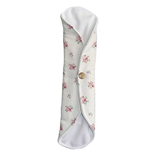 Toalla de noche de algodón orgánico, diseño de rosas