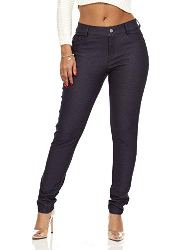 YDX Smart Jeans Jeggings Stretch Super Comfy Pants That Look Like Jeans Juniors Shiny Navy Size Medium