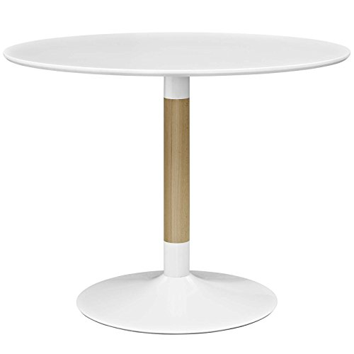 Modway Whirl 40' Contemporary Modern Round Kitchen and Dining Table in White