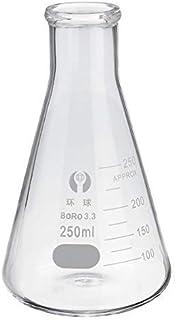 250 مل قارورة مخبرية زجاجية مخروطية مع زجاج مختبر البورسليكات
