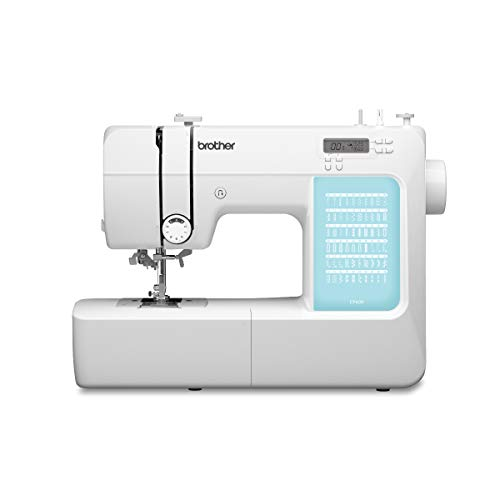 Brother CP60X Computerized Sewing Machine, 60 Built-in Stitches, LCD Display, 7 Included Feet, White