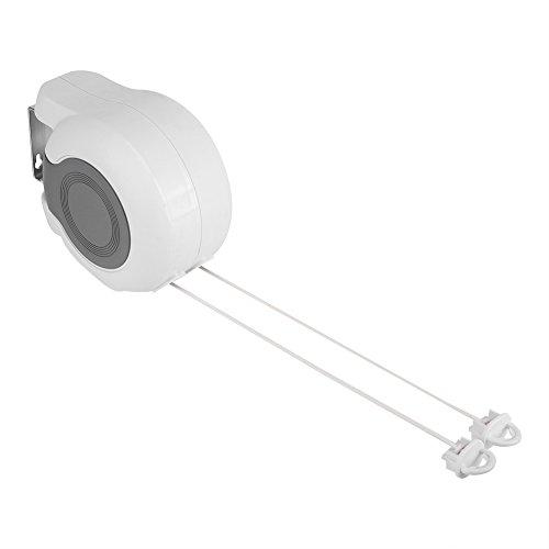 Línea de cuerda para ropa, 2líneas tendedero rétractabl 13m cuerda de ropa tendedero de acero inoxidable redonda para interior y exterior de la ropa secado