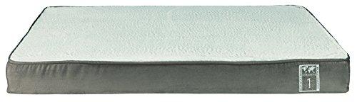 TRIXIE Cojín Vital Best Of All, 100 × 70 cm, Gris topo-Gris Claro, Perro