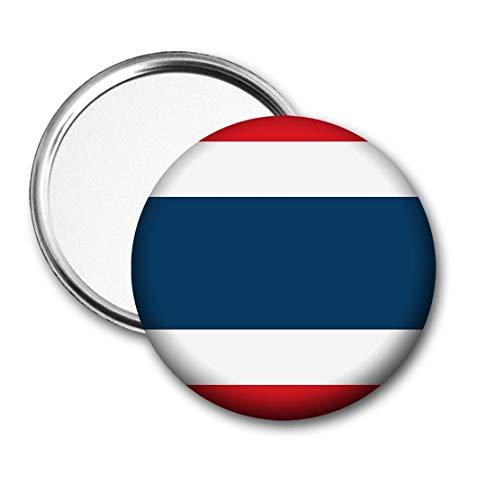 Thailand Vlag Pocket Spiegel voor Handtas - Handtas - Cadeau - Verjaardag - Kerstmis - Stocking Filler - Secret Santa