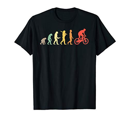Retro Mountain Biking Evolution Gift For Mountain Bikers T-Shirt