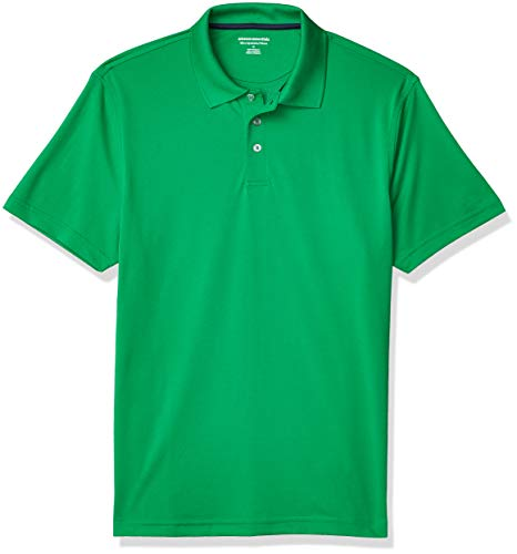 Amazon Essentials Men's Slim-Fit Quick-Dry Golf Polo Shirt, -Green, X-Large