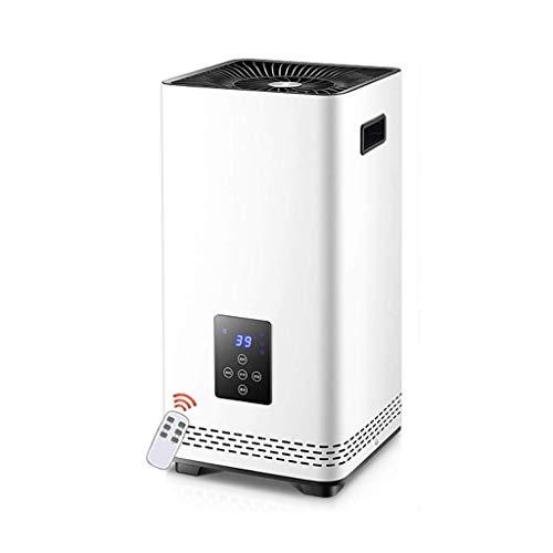 XHHWZB Calentador de espacios, oscilante interna instantánea calefacción calentador eléctrico, calentador de torre transportable con termostato, temporizador programable de 12Hr, Caja Protección contr