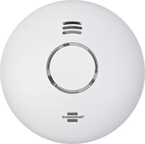 Brennenstuhl Connect detector de humo y calor inteligente WRHM01 con notificación de aplicación (detector de humo WiFi, incluye 2x pilas, probado según EN 14604)