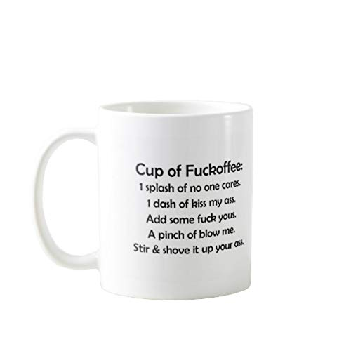 11OZ PREMIUM PORTABLE COFFEE MUGS FUNNY - CUP OF FUCKOFFEE - GIFT IDEAL FOR MEN, WOMEN, MOM, DAD, TEACHER, BROTHER OR SISTER #9022