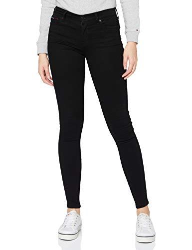 Tommy Hilfiger Damen Nora MR SKNY STBKS Jeans, Staten Black Stretch, W26 / L30