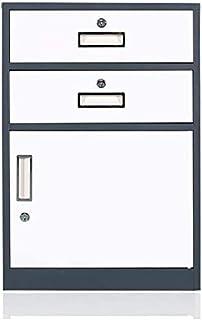 Classeurs Verrouillage Mobile 3 Couches Type de tiroir Scroll de Stockage entièrement assemblé à l'exception des roulettes...